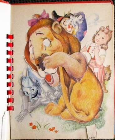 Cowardly Lion mechanical illustration.