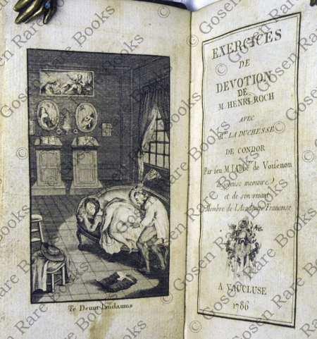 Erotic Literature - Claude-Henri de Fusée de Voisenon Exercises de Devotion