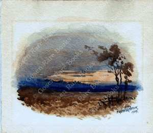 Original Watercolour by George Stratton Ferrier (1852 – 1912) Signed and Dated 1909