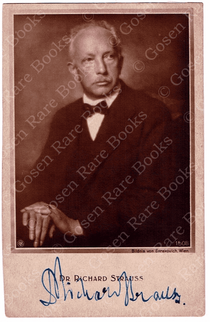Richard Strauss Photograph