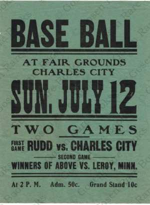 Base Ball Broadside July 12th 1874