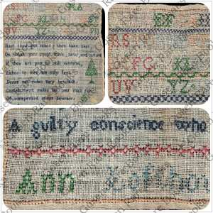 Cross Stitch Sampler by Ann Lofthouse