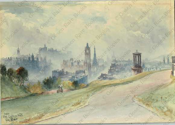 John Blair Watercolor of Edinburgh | From the Calton Hill