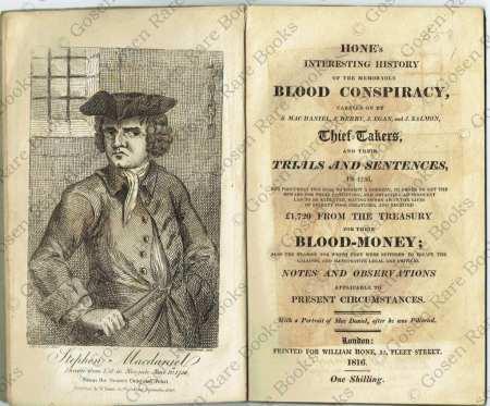 George Cruikshank Hone's Interesting History of the Memorable Blood Conspiracy 1816