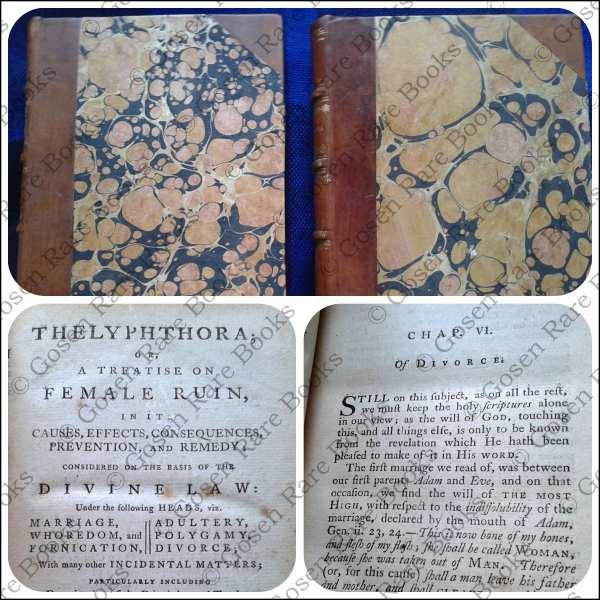 Rev Martin Madden's Thelyphthora; His Scriptural Defense of Polygamy 1781