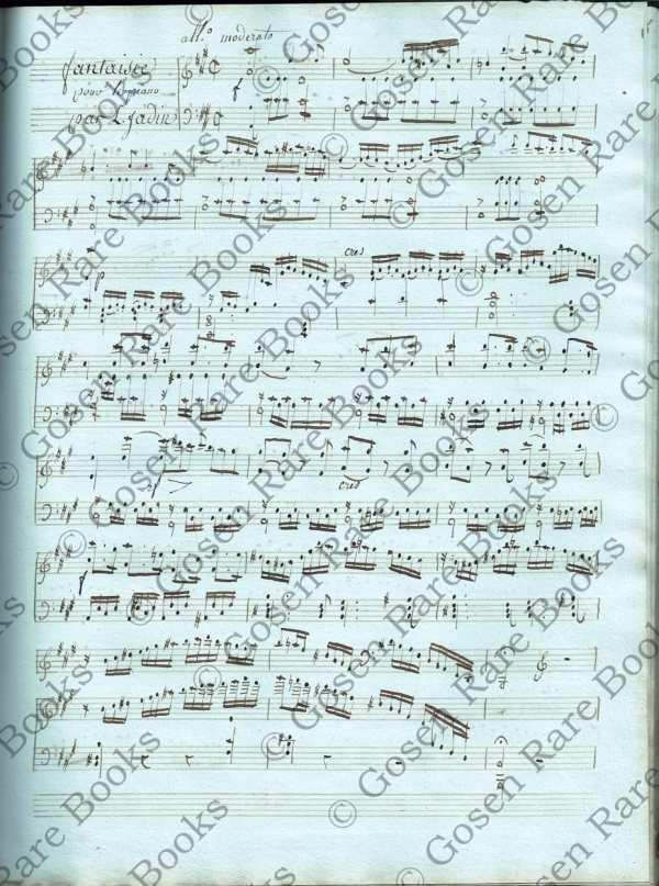 Louis-Emmanuel Jadin Musical Manuscripts Album Containing Seven Unpublished Compositions