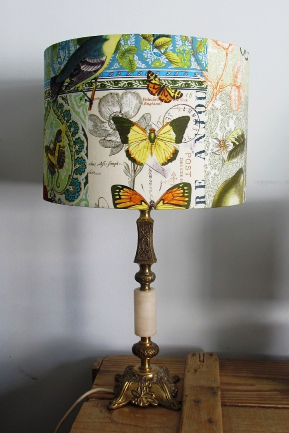'Parisienne' 1960s vintage lamp with handmade shade