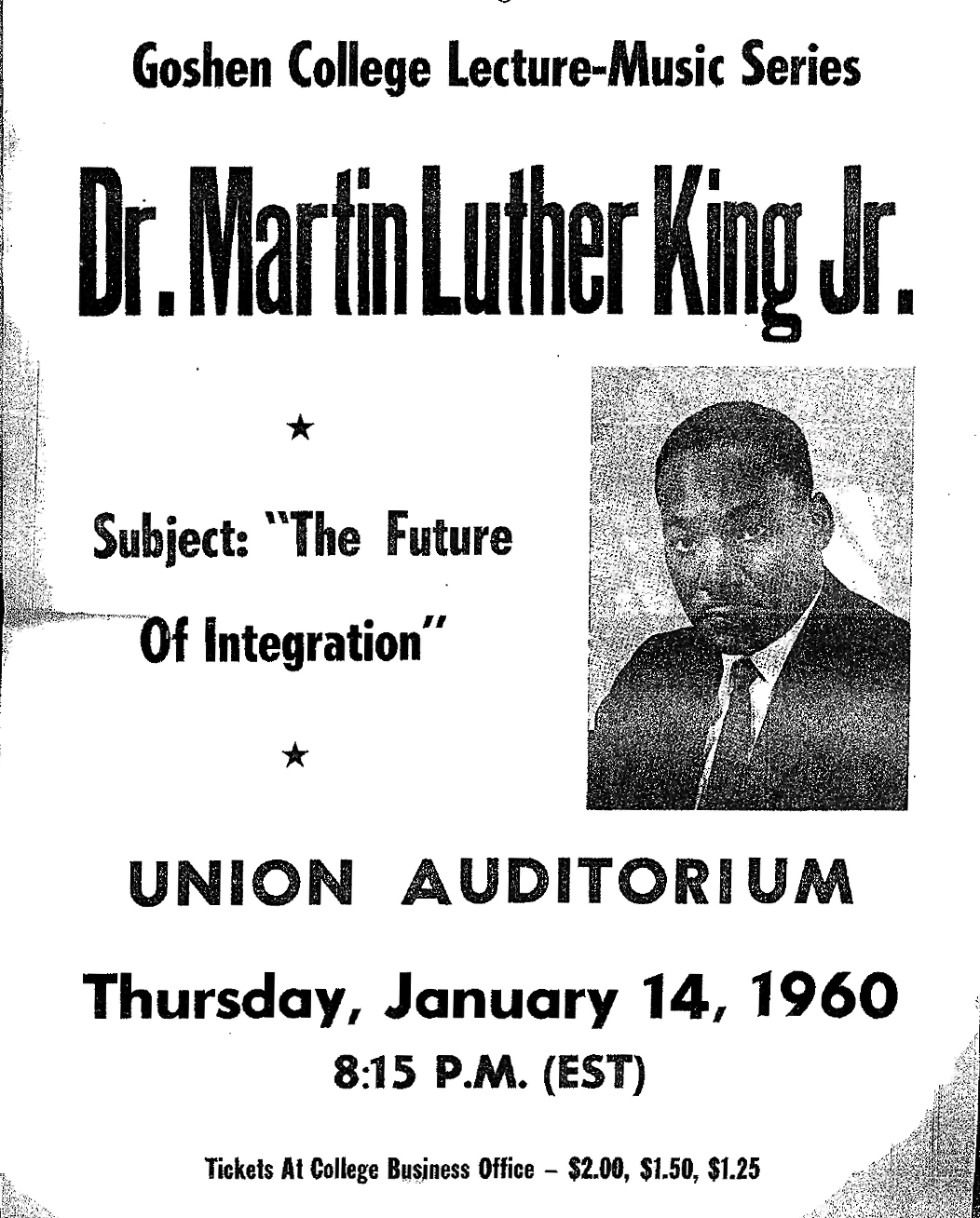 Martin Luther King Jr S Visit To Goshen College In