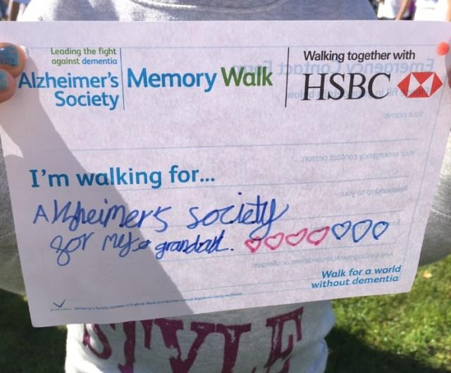 Memory Walk Card 1