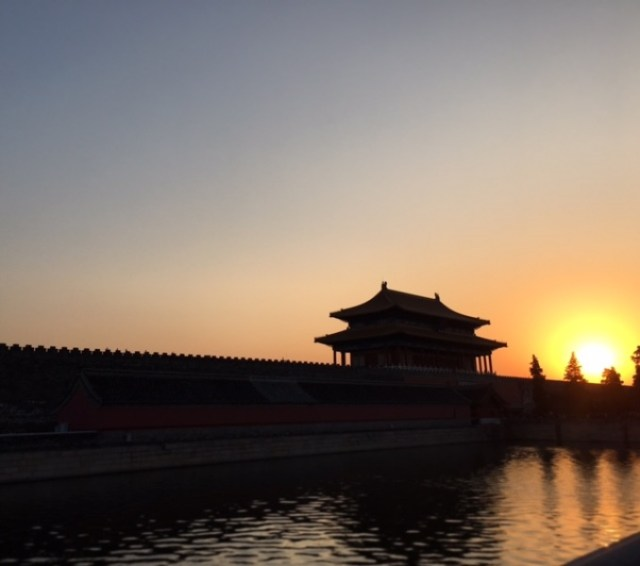 Forbidden City sunset 2