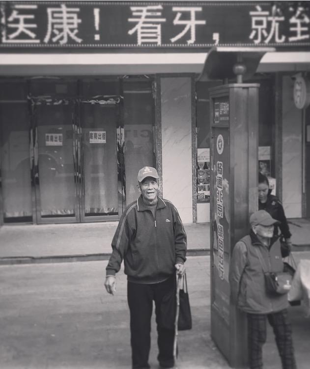 Man at the bus stop