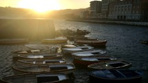 Naples - boats at sunset