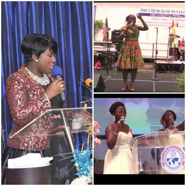 Diana Antwi Hamilton  at Church of Pentecost ministering.