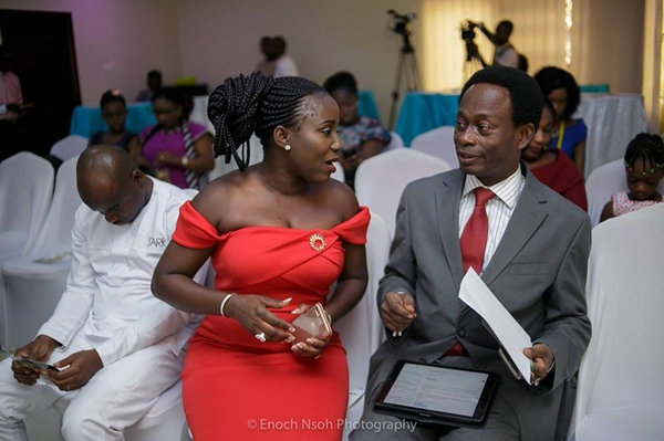 Diana Antwi Hamilton and Apostle Opoku Onyinah(Former Church of Pentecost Chairman)