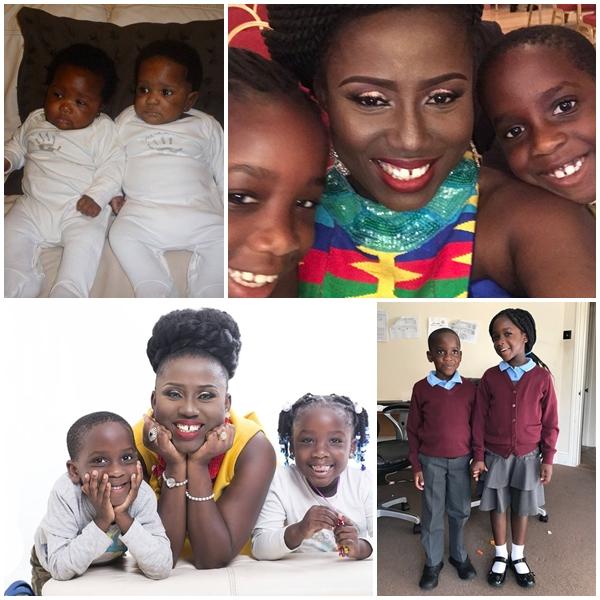Diana Antwi Hamilton with her Twins