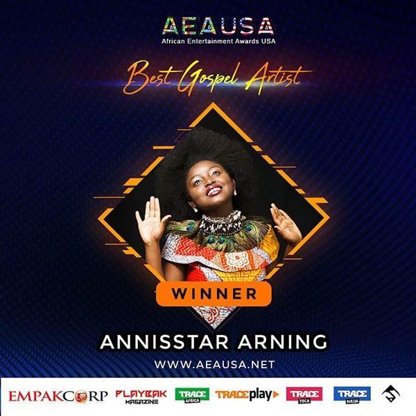 Annisstar Emerges Best Gospel Artist at AEAUSA Awards Ceremony