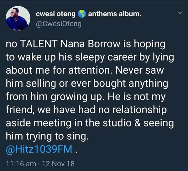 Nana Boro, Chemphe and Cwesi Oteng Trade Blows on Social Media