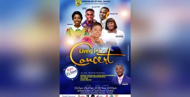 Victoria Sarfo, MaaDwoa, Derrick Agyare & Others Set For Living Praise Concert 2018