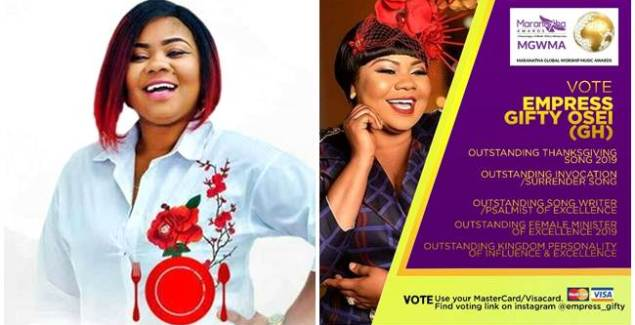 Gifty Adorye Leads Nominations in Global Worship Music Awards in Kenya