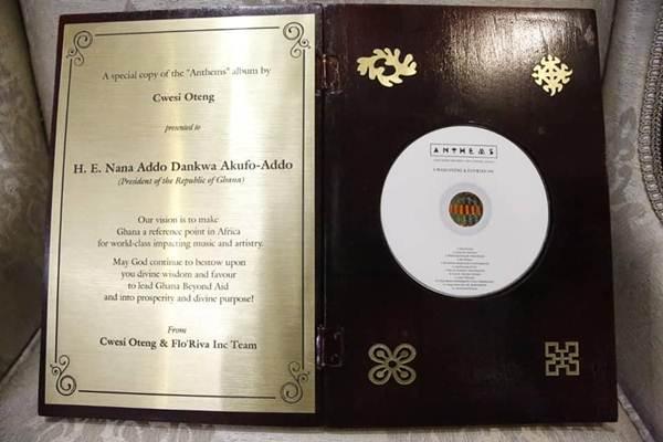 President Akufo-Addo Congratulates Cwesi Oteng on Anthems Album  President Akufo-Addo Congratulates Cwesi Oteng on Anthems Album President Akufo Addo Congratulates Cwesi Oteng on Anthems Album 45