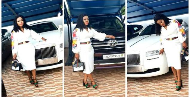 Obofowaa Obofour's Wife Ciara (Obofowaa) Shows off New Customised V8