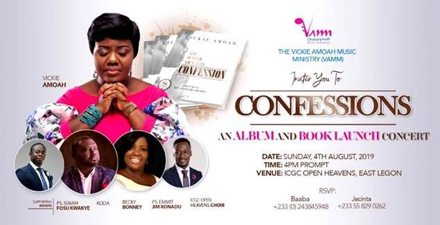 Vickie Amoah to Outdoor 'Confessions' – An album and a Book