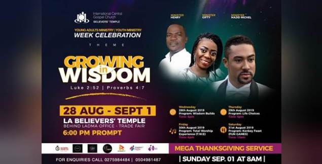 Majid Michel, Henry & Gifty Set for ICGC LA Believers' Temple 'Week Celebration'
