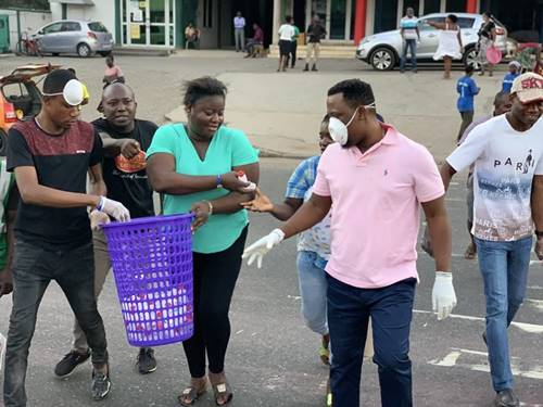 Prophet Nigel Gaisie Shares Hand sanitizers and Face Masks
