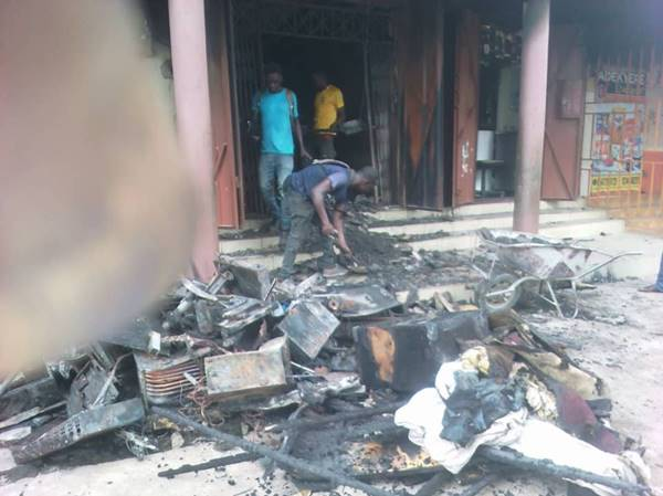 I have Lost my 16 years Recording Studio by Fire Outbreak - Augustina Addison Laments + PHOTOS