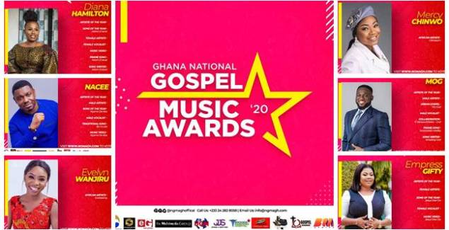 Ghana National Gospel Music Awards (NGMA) out with the Nominations List Ahead of Award