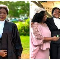 Daughter of Gospel Musician, Mama Esther, Fredericka Amfo Boakye-Duah Turns Lawyer at 24