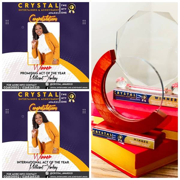 US Based Ghanaian Gospel Artiste Millicent Yankey Wins Two Awards at Crystal Achievement Awards