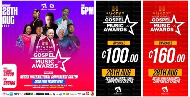 Elder Mireku, Empress Gifty, Fameye & More To Perform At Steaman Heights Ghana National Gospel Music Awards
