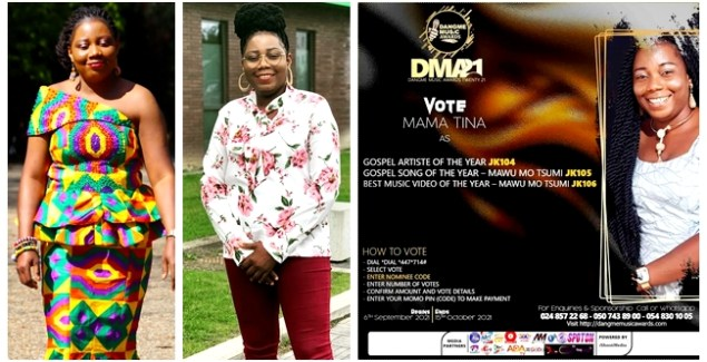 Mama Tina Gets Dangme Music Awards Nominations with 'Mawu Mo Tsumi'