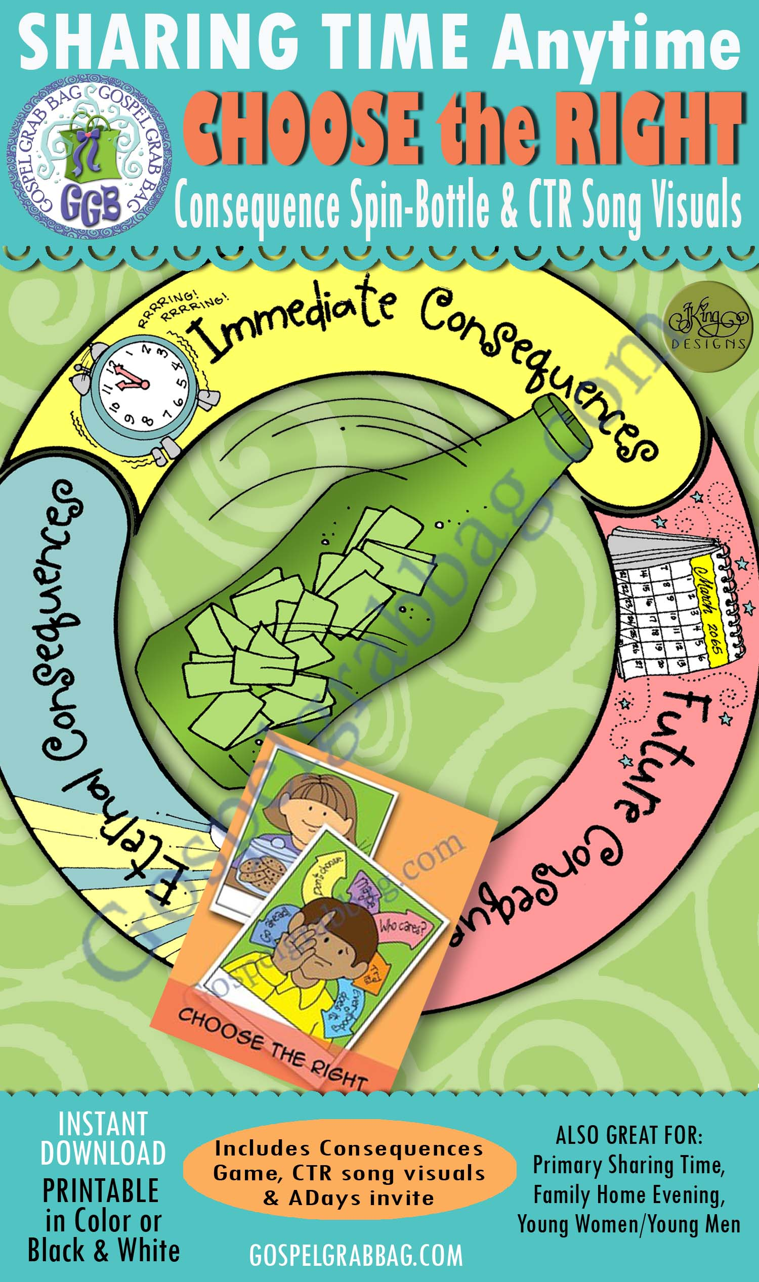 Choose The Right Lds Lesson Choosing A Consequence Spin