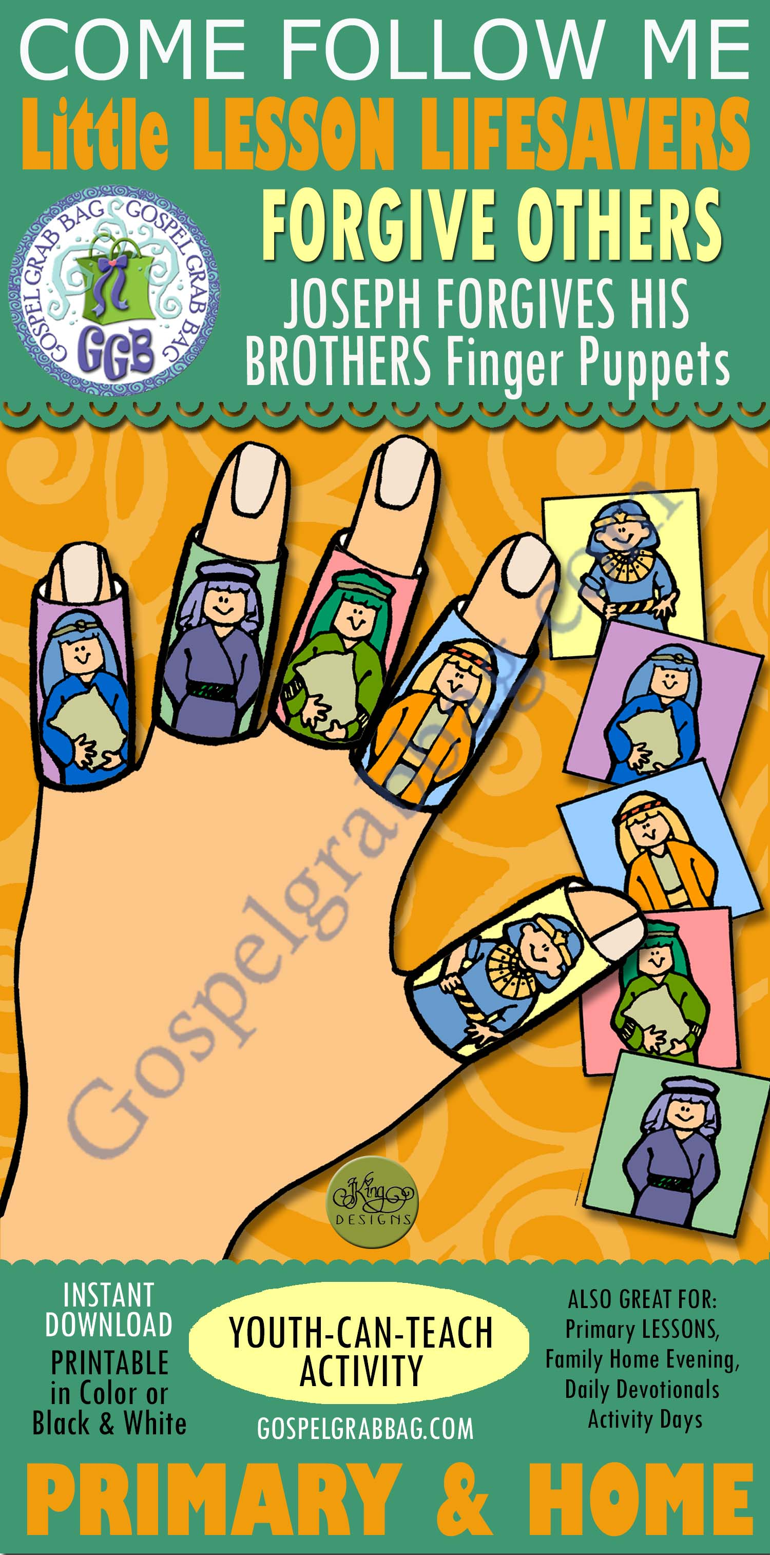 Forgiveness Activity Joseph Forgives His Brothers Finger Puppets Primary 1