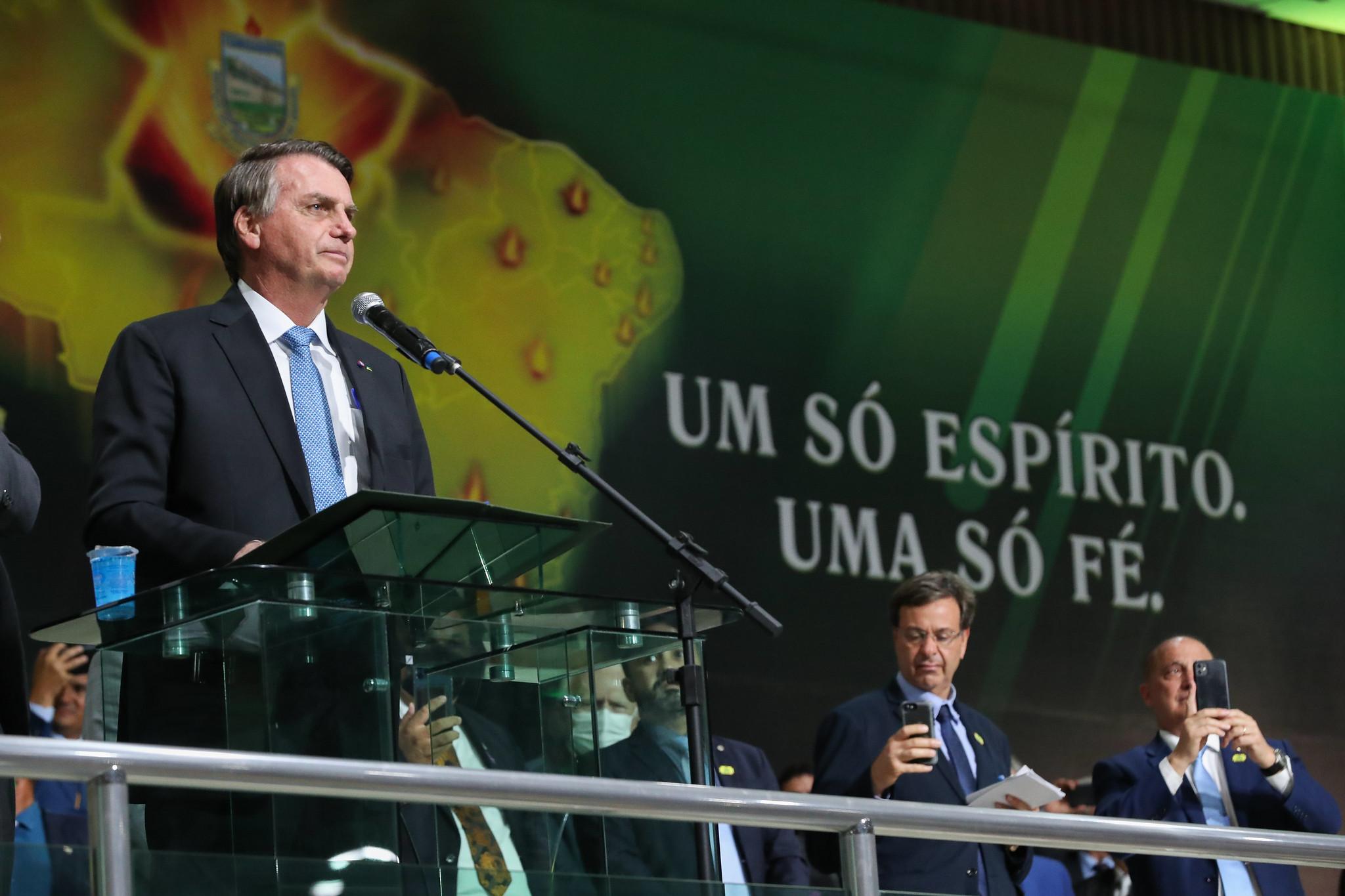 Presidente Jair Bolsonaro em evento da Assembleia de Deus