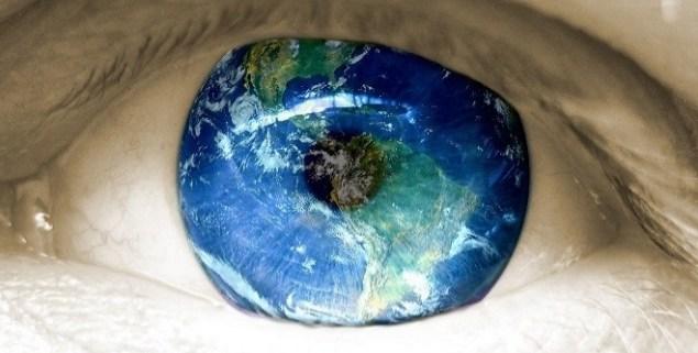 Eye with world image