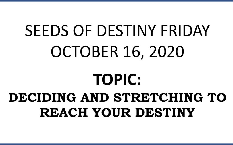 Seeds of Destiny 16th October 2020 by Dr Paul Enenche