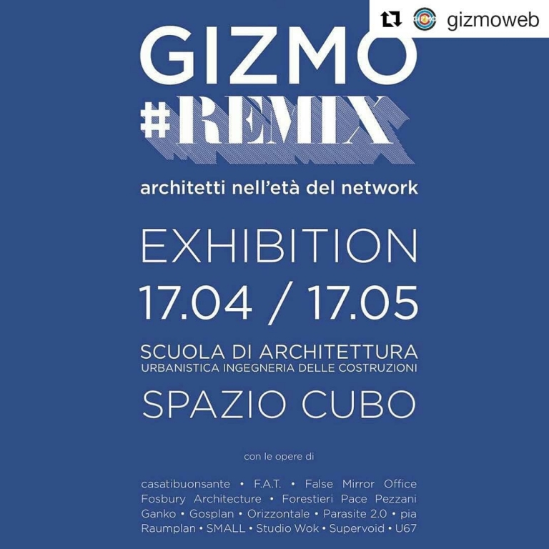 #Remix exhibition by @gizmoweb at Spazio Cubo...