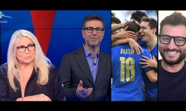 Ascolti tv ieri: l'Italia fa il botto, Fazio ottimo, Scherzi a Parte resiste