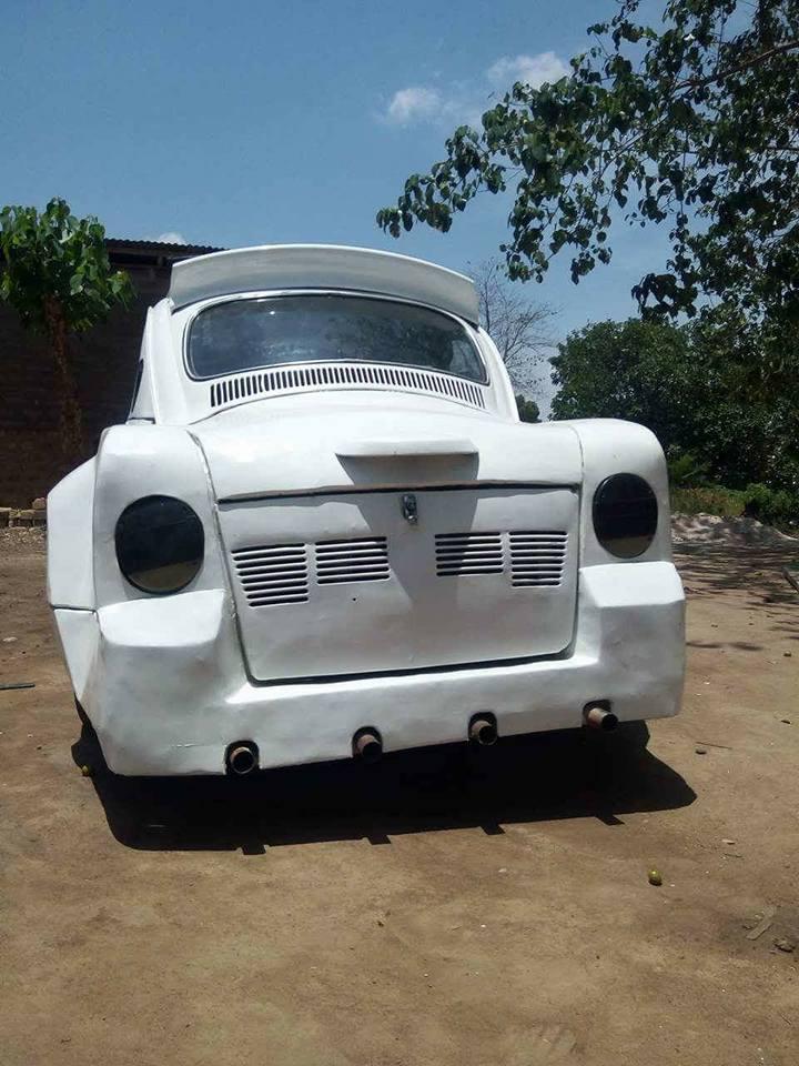 isa7 - Nigerian Man Redesigns A Beetle Tortoise Car Into A Rolls Royce [Photos]