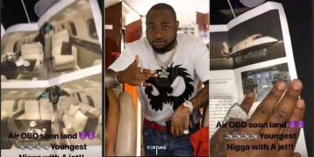 """davidopp 500x251 - I AM THE YOUNGEST GUY IN THE WORLD TO BUY HIS OWN PRIVATE JET"""" Davido Brags again!"""