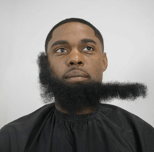 fbeard1 500x493 - Beardless Men Are Now Fixing Artificial Beards Just So They Can Form Beard Gang