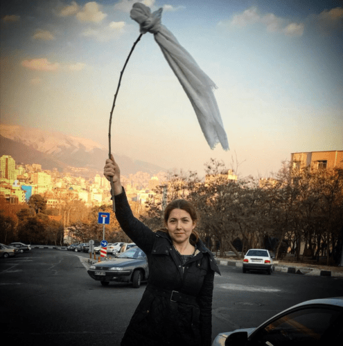 hijab 495x500 - Lady Sentenced To 20years In Prison For Removing Her Hijab In Iran