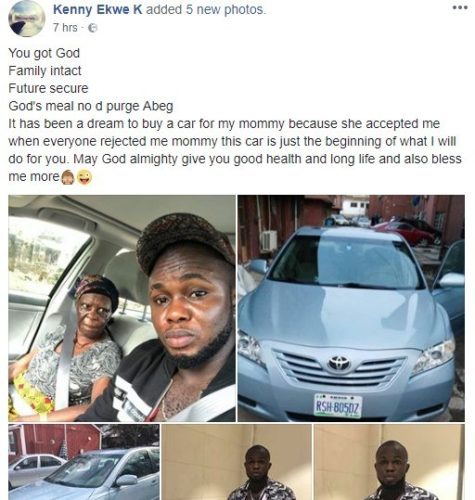 vnz4 475x500 - Nigerian Man Finally Fulfills His Dream, He Buys A Toyota Venza For His Old  Mother (See Photos)