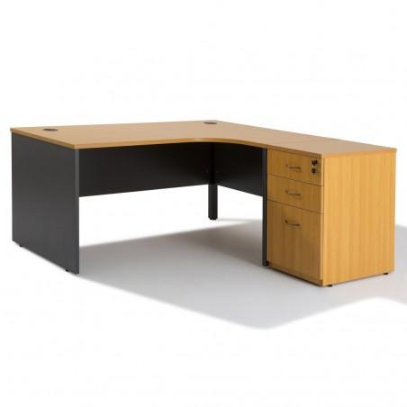 bureau compact panneaux caisson hb bois 60 cm