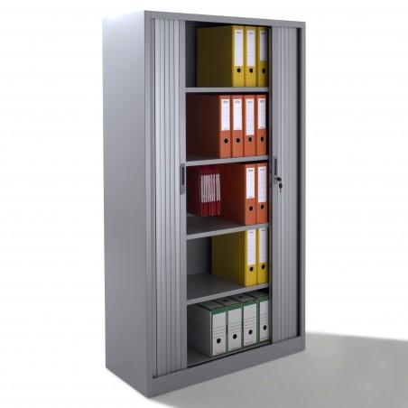 armoire a rideaux h195 en metal livree montee