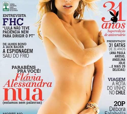 Flavia Alessandra Nua Playboy