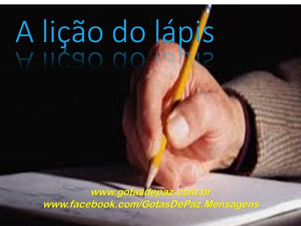 A lição do lápis